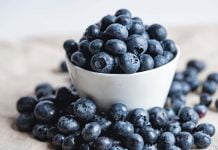 Blåbær kalori