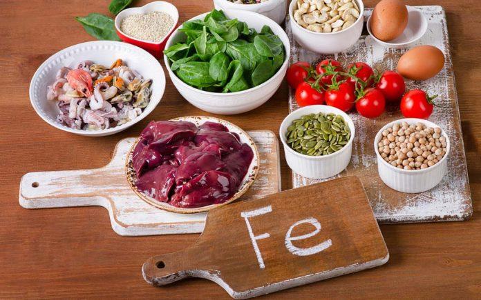 Mat med mye jern