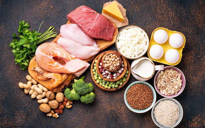 Mat som inneholder proteiner