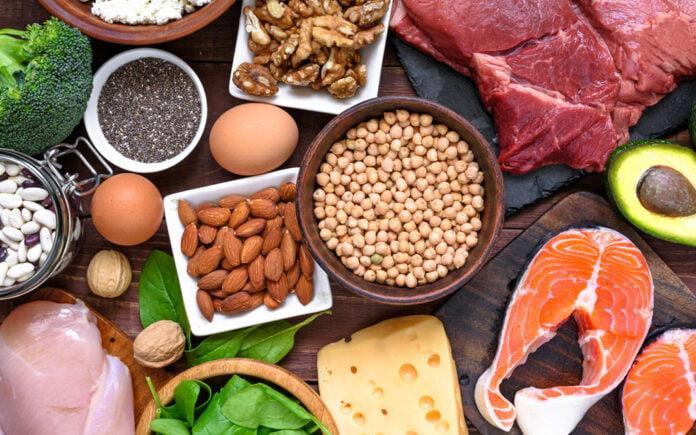 Mat med mye proteiner